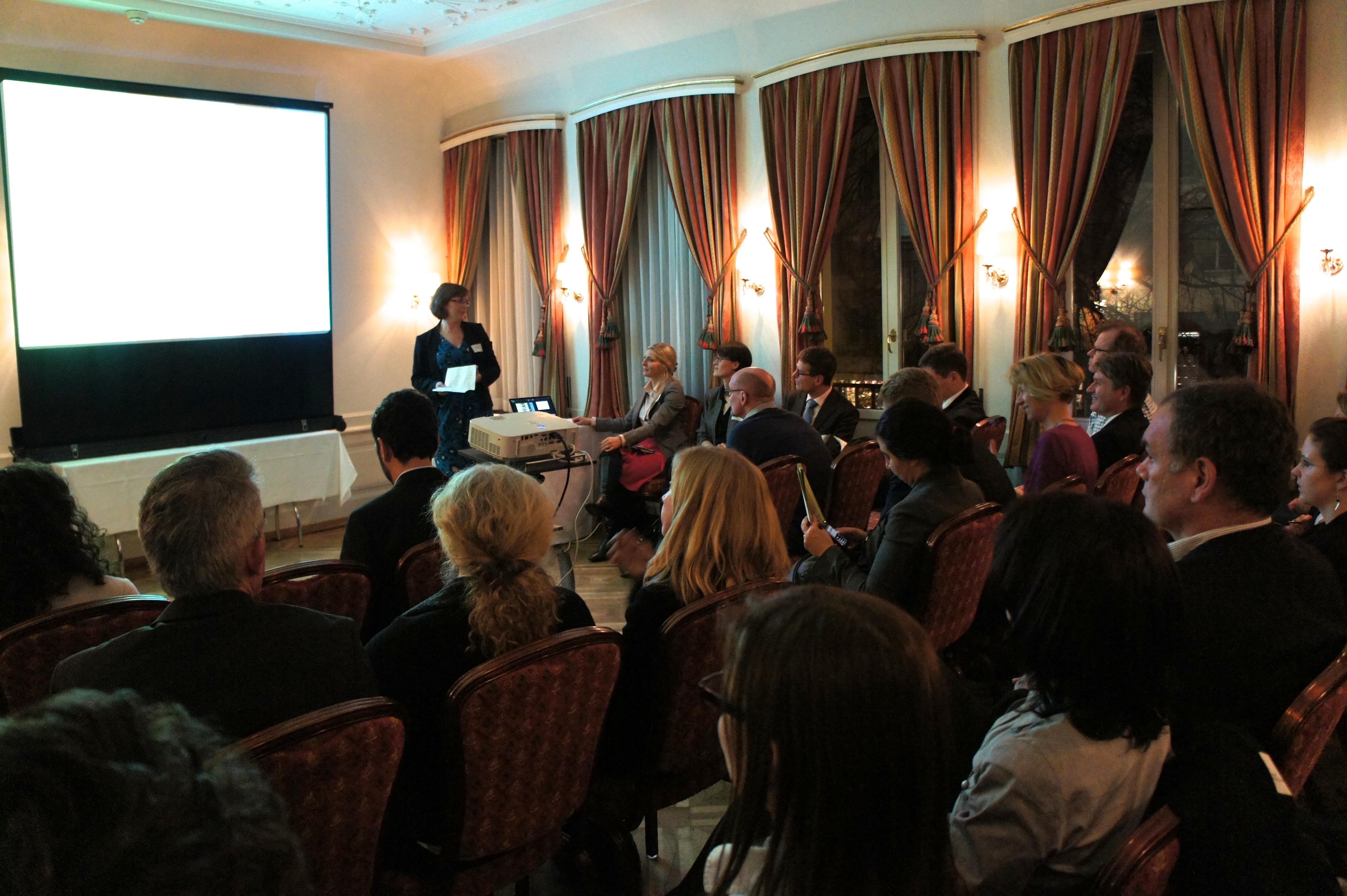 Liesel van Ast presenting the Natural Capital Declaration Roundtable
