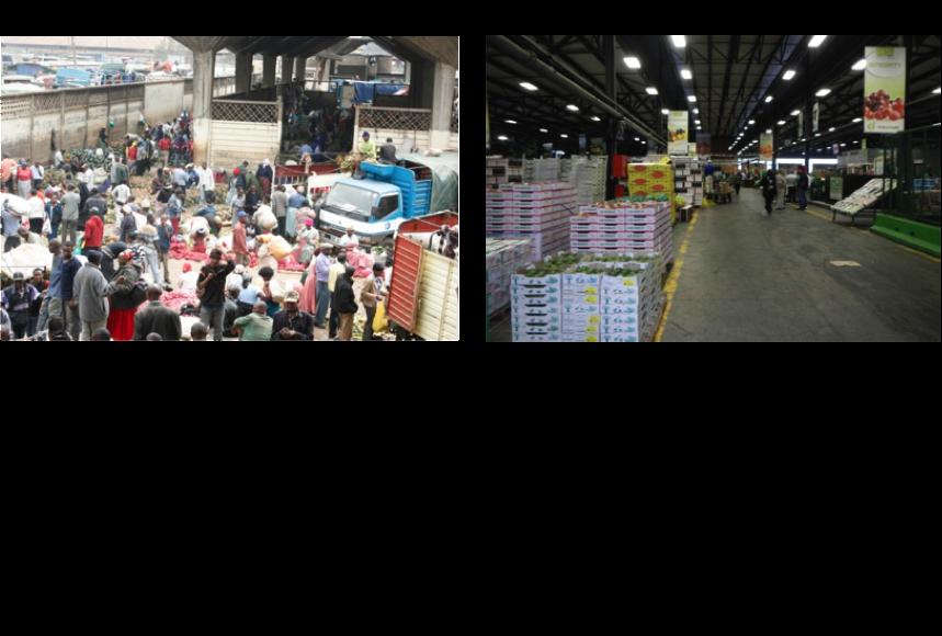 Figure 2: Current versus modernized fresh produce market.