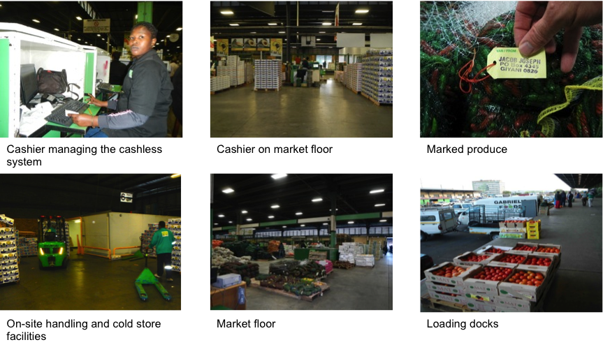 Figure 3: Johannesburg fresh produce market images.
