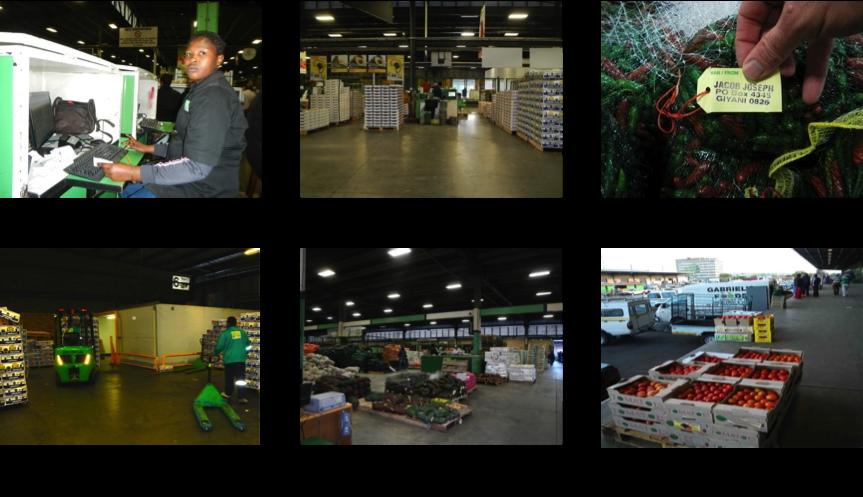 Figure 3: Johannesburg fresh produce market images.