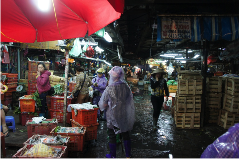 Figure 4: Hanoi fresh produce market.