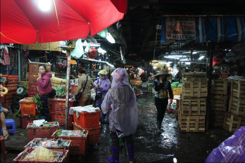 Figure 4: Hanoi fresh produce market.